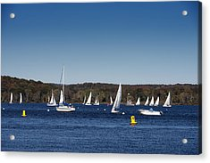 Sailboats On The Connecticut River Acrylic Print