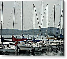 Sailboats Acrylic Print by Pics by Jody Adams