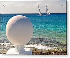 Sailboats Racing In Cozumel Acrylic Print