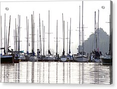 Sailboats Reflected Acrylic Print