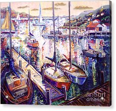 Sailboats Acrylic Print by Stan Esson
