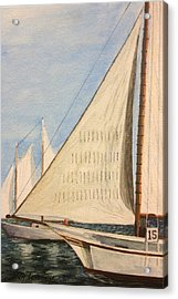 Sailboats Acrylic Print by Stan Tenney
