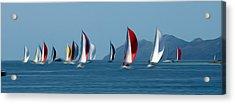 Sailboats Acrylic Print by Stefan Petrovici