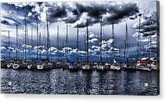 Sailboats Acrylic Print by Stelios Kleanthous