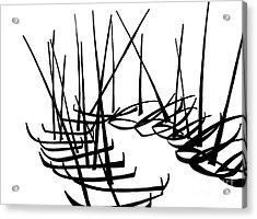 Sailboats Waiting On Shore Acrylic Print by Menno Bos