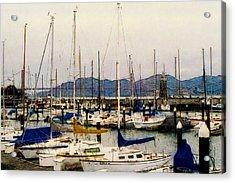 Sailboats Watercolor Acrylic Print