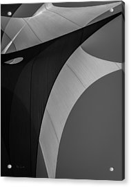 Acrylic Print featuring the photograph Sailcloth Abstract Number Eight by Bob Orsillo