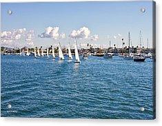 Sailing Acrylic Print by Angela A Stanton