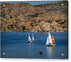 Sailing Below The Granite Dells Acrylic Print