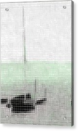 Sailing Boat At A Dock Acrylic Print