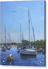 Sailing Boats At Christchurch Harbour Acrylic Print