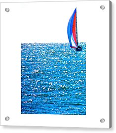 Sailing Acrylic Print by Brian D Meredith