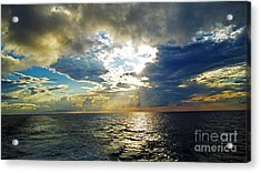 Sailing By Heaven's Door Acrylic Print by Alison Tomich