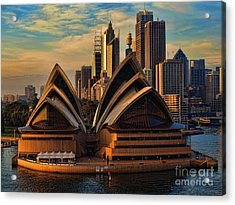 sailing by the Opera House Acrylic Print by Trena Mara