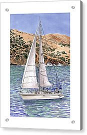 Sailing Catalina Island Sailing Sunday Acrylic Print by Jack Pumphrey