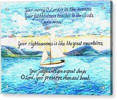 Sailing  Acrylic Print by Catherine Saldana