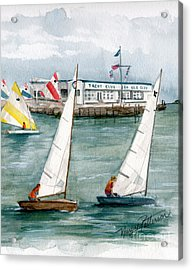 Sailing Class  Acrylic Print by Nancy Patterson