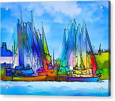 Sailing Club Abstract Acrylic Print