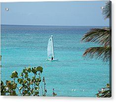 Acrylic Print featuring the photograph Sailing by David S Reynolds