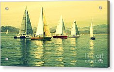 Acrylic Print featuring the photograph Sailing Day Regatta 2 by Julie Lueders