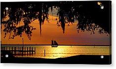 Sailing Destin Acrylic Print