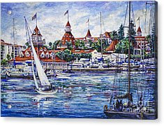 Sailing Glorietta Bay Acrylic Print