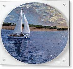 Sailing Homeward Bound Acrylic Print by Stella Sherman