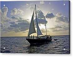 Acrylic Print featuring the photograph Sailing In Aruba by Suzanne Stout