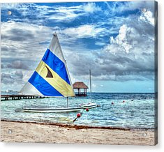 Sailing In Cancun Acrylic Print