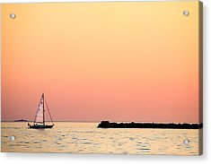 Sailing In Color Acrylic Print by Gary Heller