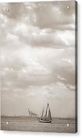 Sailing In New York Harbor - Nautical Acrylic Print by Gary Heller