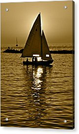 Sailing In Sepia Acrylic Print by Frozen in Time Fine Art Photography