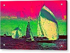 Acrylic Print featuring the photograph Sailing In Shimmer by Julie Lueders