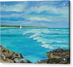 Sailing In The Bay Acrylic Print