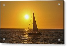 Sailing Into The Sunset Acrylic Print by Aged Pixel