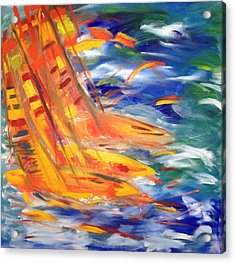 Sailing Acrylic Print by Judi Goodwin