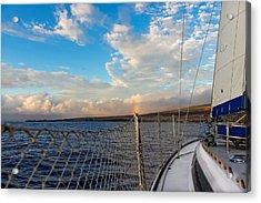 Sailing Lahaina Bay Acrylic Print