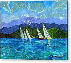 Acrylic Print featuring the painting Sailing by Laura Forde