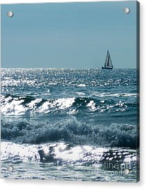 Sailing Acrylic Print by Mike Ste Marie