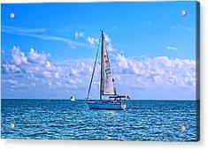 Sailing Off Of Key Largo Acrylic Print