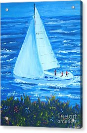 Sailing Off The Coast Acrylic Print