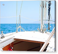 Sailing On A Fine Sunny Day Acrylic Print by Artist and Photographer Laura Wrede