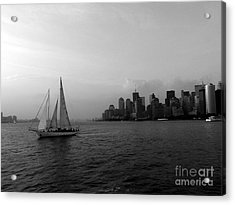 Sailing On The Hudson Acrylic Print by Avis  Noelle