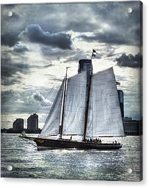 Sailing On The Hudson Acrylic Print