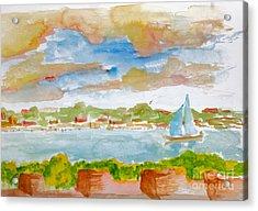 Sailing On The River Acrylic Print