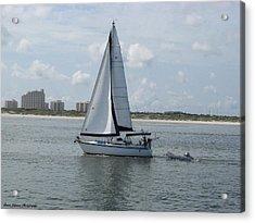 Sailing Ponce Inlet Florida Acrylic Print by Brian Johnson