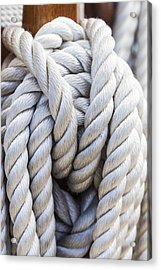 Acrylic Print featuring the photograph Sailing Rope 1 by Leigh Anne Meeks