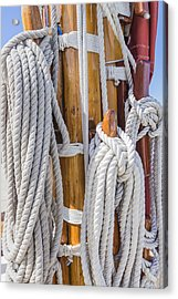 Acrylic Print featuring the photograph Sailing Rope 4 by Leigh Anne Meeks