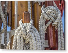Sailing Rope 5 Acrylic Print by Leigh Anne Meeks