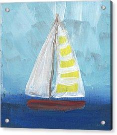 Sailing- Sailboat Painting Acrylic Print by Linda Woods